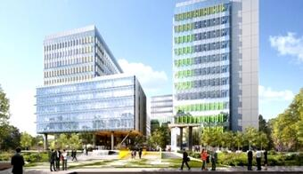 Skanska to complete in the end of the month the first building within Green Court, where 1,500 Orange employees will work